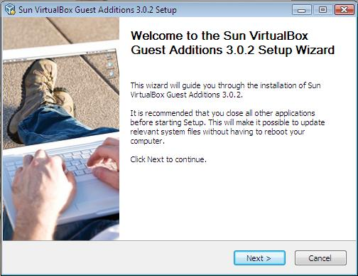 Guest Additions 3.0.2 Setup Wizard